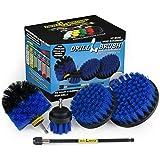 Boat Accessories - Swimming Pool - Blue Medium Drill Brush Scrub Kit
