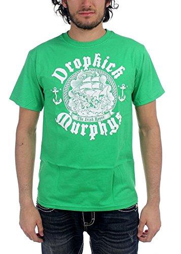 DROPKICK MURPHYS - Dropkick Murphys - Herren Irish Rover T-Shirt, XX-Large, Black