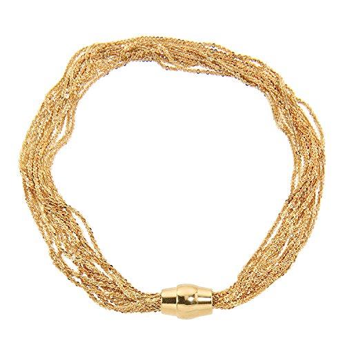 Aleksander Sternen La Barca Damen Criss-Cross 925/- Sterling Silber vergoldet mit Magnetschließe