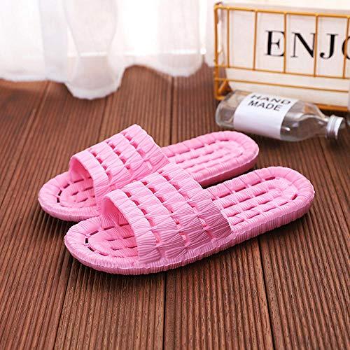 LLGG Ducha y Baño Chanclas Antideslizante,Zapatillas de plástico de plástico EVA, baños para el hogar Sandalias Antideslizantes-Rosa_40-41,Zapatillas Baño Secado Rápido Piscina