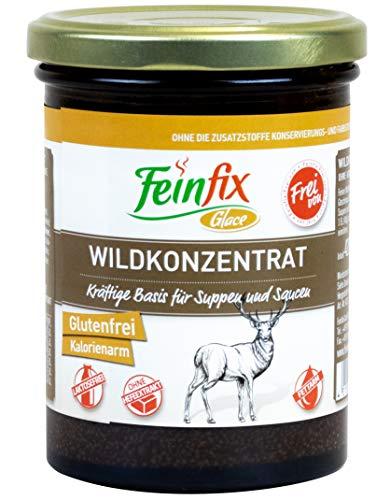 Feinfix Wildkonzentrat 420g für 10 Liter Wild-Fond | für Suppe und Sauce | Wild Fond Konzentrat Frei von | Glutenfrei | Kalorienarm | Laktosefrei | Ohne Hefeextrakt | 2A-IV6Z-2YAF