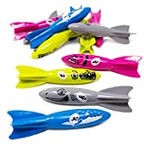 Boley Dive Torpedo Bathtub Toys - 12 Pack Small Shark, Fish, and Whale Kids Bath Toys for Toddlers Ages 3 and Up