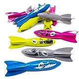Boley Dive Torpedo Swim Toys - 12 Pk Sinking Swimming Pool Toys for Kids - Pool Diving Toys & Water Games