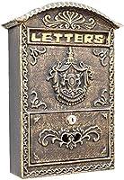 メールボックス 郵便受け ポスト 北欧風 ポストボックスヨーロッパスタイルのメールボックスアルミ壁マウントポストボックスセキュアメールボックスレターボックス屋外レトロビンテージメールボックス/ 10.8x4x15.7inメールボックス
