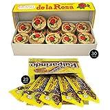 De La Rosa Marzipan Peanut Classic Mexican Candy (30 pieces) and Dulce de Tamarindo Classic Pulparindo (20 pieces)