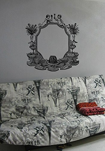 Photo Frame Flowers Template Nature Collage Angel Kids Room Children Stylish Wall Art Sticker Decal G9198