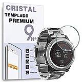REY Protector de Pantalla para Garmin Fenix 3 - Fenix 3 HR, Cristal Vidrio Templado Premium