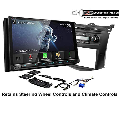 Kenwood Excelon DNX997XR Navigation Receiver + Install kit Compatible with 2003-07 Honda Accord (Factory Climate Controls) + Sound of Tri-State Lanyard Bundle