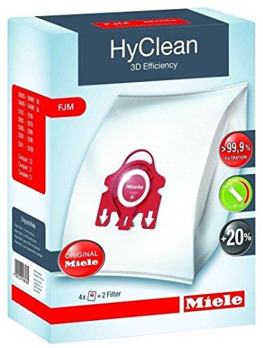 2x Miele FJM HyClean 3D Efficiency sacchetti per aspirapolvere compatta, S700, S4000e S6000Series