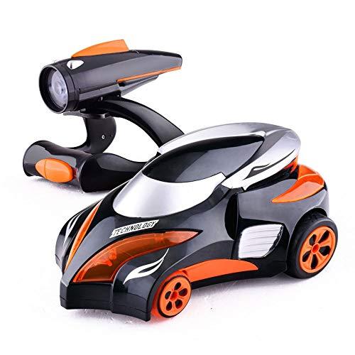 ALYHYB Coches RC para niños, coche de control remoto, vehículo de seguimiento infrarrojo con luces coloridas y música dinámica, batería recargable, regalo de juguete para niños y niñas cumpleaños