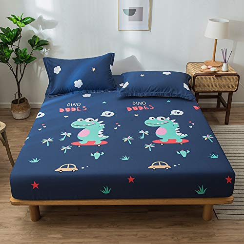unknow Bed Sheet, One-Piece Cotton Mattress Cover, Cotton Striped Bedspread, Simple Mattress Protector