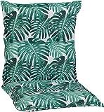 Beo Kissen Tropical Palmen grün als Gartenstuhlauflage für Niederlehner