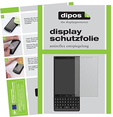 dipos I 6X Schutzfolie matt kompatibel mit BlackBerry Key 2 Folie Bildschirmschutzfolie