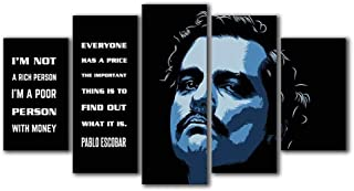 Canvas Paintings Hd Printed Home Decoration HD Modern 5 Pcs Pablo Escobar Pictures Poster for Living Room Wall Artwork Framework