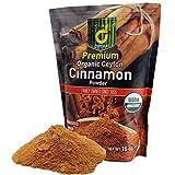 USDA Organic Ceylon Cinnamon Powder – 1 Lb. Of Freshly Ground Ceylon Cinnamon in a Handy Re-sealable Pouch. Family Owned in Sri Lanka Since 1935