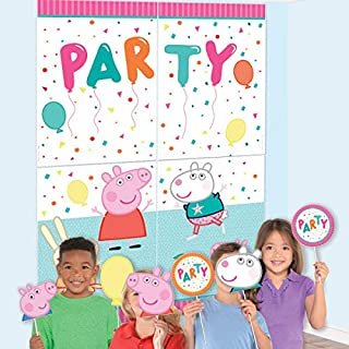 Peppa Pig Confetti Party Scene Setter with Props