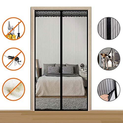 Magnetische hordeur voor openslaande deuren, magnetische schuifdeur voor voordeur Bug Out Kinderen/huisdieren doorlopen, grootte tot 72