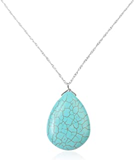 Best faux turquoise chunky necklace Reviews