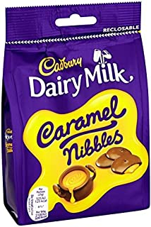 Dairy Milk Cadbury Caramel Nibbles 120 G Bag (Pack Of 6)