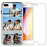 Coque de téléphone compatible avec iPhone 7 Plus (Crystal Layuot 4 images)