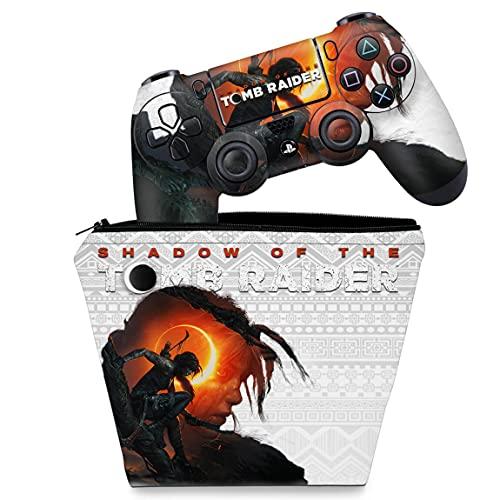 Capa Case e Skin Adesivo PS4 Controle - Shadow Of The Tomb Raider