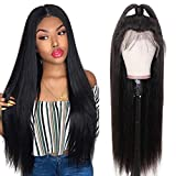 Ur Beautiful Straight Human Hair Lace Front Wig Brazilian Human Hair Wigs 13x4 Cabello Humano Lace Front Peluca Straight Hair Lace Wigs For Black Women 150% Density Straight Wigs Natural Color 18 Inch