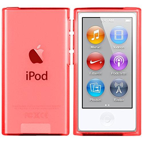 moodie Silikonhülle für iPod Nano 7G Hülle in Rot - Case Schutzhülle Tasche für Apple iPod Nano 7 Generation - 2015 Version