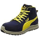 [プーマセーフティー] 安全靴 作業靴 ライダー ミッドカット JSAA A種認定 先芯合成樹脂 衝撃吸収 静電 靴幅4E ジャパンモデル メンズ ブルー 26.5cm
