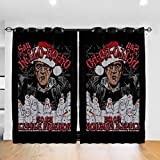 Customized Blackout Window Curtains Scarface Say Hello Ho Ho to My Little Friend Grommet Thermal Insulated Room Darkening Drape for Bedroom Living Room 52 X 72 Inch, 2 Panels