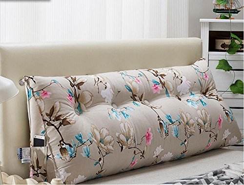 YSDHE Double Triangle Cushion Pillow Bed Large Cushion (Color : E, Size : 180 * 22 * 50cm)