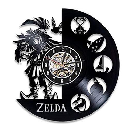 CNLSZM Vintage Vinyl Schallplatte Wanduhr Vinyl Wanduhr Zelda Wanddekoration Uhr Geschenkuhr-with LED