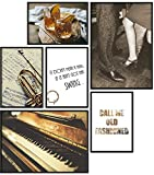 Papierschmiede® Premium Poster Set Jazz | 6 Bilder als