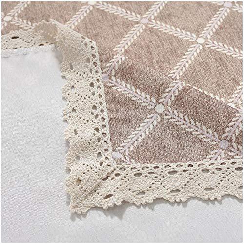 Branfan Mantel a Cuadros de Amazon hogar Mantel Impermeable y a Prueba de Polvo Mantel Rectangular decoración del hogar Mantel, 140X220CM