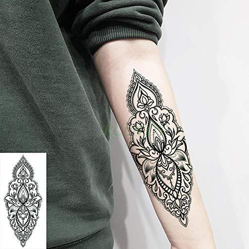 tzxdbh 3pcs-Waterproof Tattoo Sticker Floral Patrón de Diamante ...