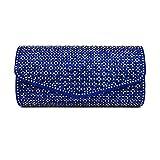 Bolsos Mujer Bolsos De Noche para Mujer Bolso Rhinestone Crystal Clutch Bolsos De Noche para Mujer Bolso De Fiesta De Boda Monedero Azul