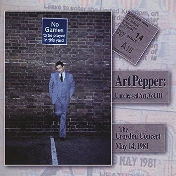 Art Pepper: Unreleased Art Vol. 3 (Vol. 3 Is a 2 Disc Set)