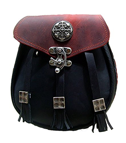 Kilt Tasche Sporran Circles of Skull Farbe Schwarz-Rot