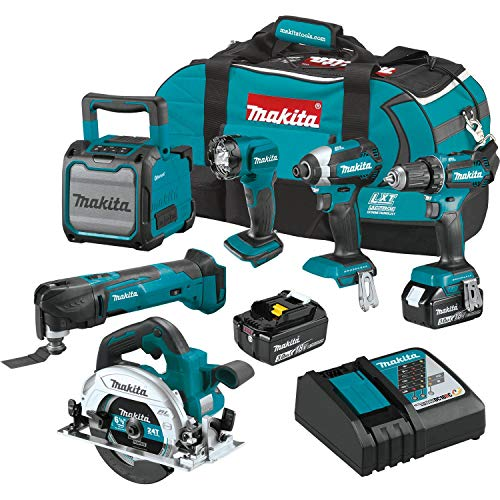 Makita XT613X1 18V LXT Lithium-Ion Cordless 6-Pc. Combo Kit (3.0Ah)