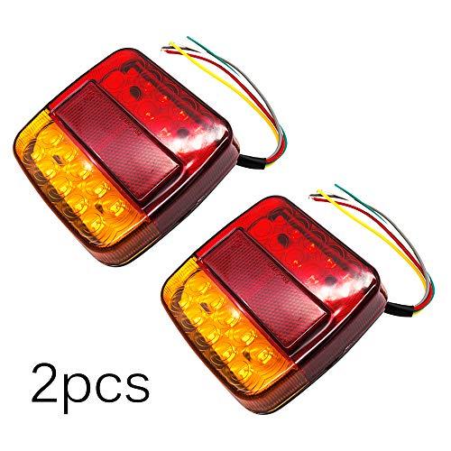 2 luces traseras LED para camión, SUNASQ, 12 V, luz trasera impermeable, luz trasera, señal de giro, freno, luz de freno, luz de matrícula, remolques, camiones, utes, barcos, caravanas, etc.