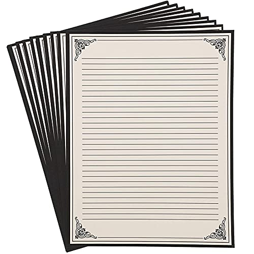 Vintage Stationery Paper, Letter Size (White, 8.5 x 11 In, 48 Sheets)