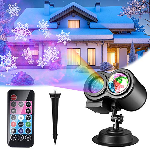 Luces de Proyector Navidad, ALED LIGHT Impermeable Exterior