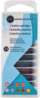Manuscript Pen Creative Calligraphy Cartridges (12 Pack), Assorted