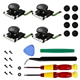 Veanic 4-Pack Replacement Joystick Analog Thumb Stick for Switch Joy-Con Controller - Complete Tool Set