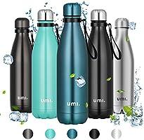 UMI. by Amazon - Borraccia Termica,Bottiglia Acqua in Acciaio Inox, Senza BPA, 24 Ore Freddo & 12 Caldo, Borracce per...