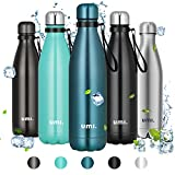 Umi. by Amazon - Botella Agua Acero Inoxidable, Termo 750ml, Sin BPA, Islamiento de Vacío de Doble...