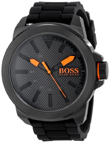 Price comparison product image HUGO BOSS Orange Men's 1513004 New York Black Stainless Steel Watch