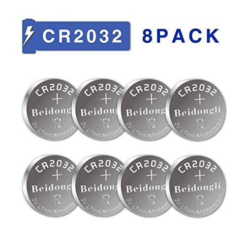 Beidongli CR2032 Battery 3V Lithium Battery Coin Button Cell (CR2032-8PACK)