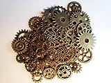 50x Steampunk Zahnräder Gothic Charms Bronze aus Metall