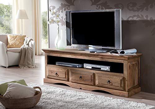 MASSIVMOEBEL24.DE Massivmöbel Kolonialstil Palisander geölt TV-Board Sheesham grau Kolonial massiv Holz Möbel LEEDS #43