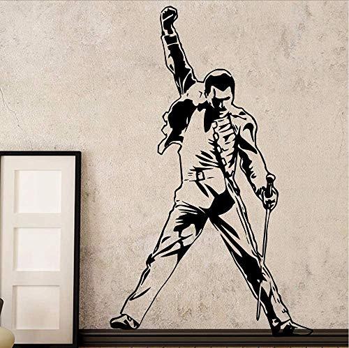 Vintage Freddie Mercury Queen Band Musik Rock Vinyl Aufkleber Wallpaper Für Raumdekoration Schlafzimmer Wohnzimmer Wanddekoration 58 * 94Cm